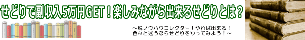 せどりで副収入5万円GET!楽しみながら出来るせどりとは?